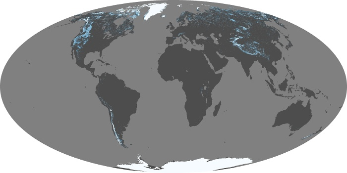 Global Map Snow Cover Image 247