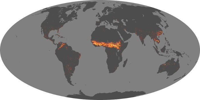 Global Map Fire Image 95