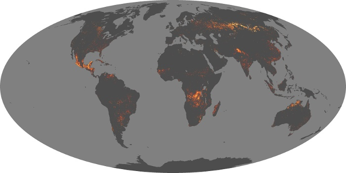 Global Map Fire Image 99