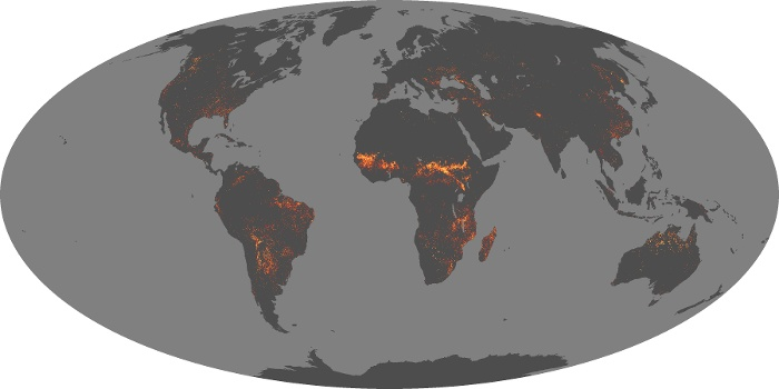 Global Map Fire Image 129