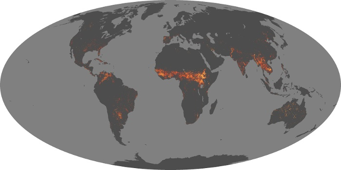 Global Map Fire Image 144