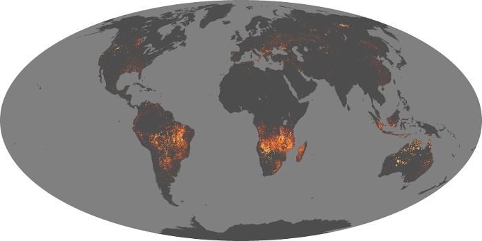 Global Map Fire Image 151