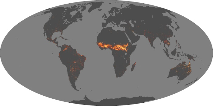 Global Map Fire Image 154