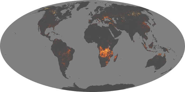 Global Map Fire Image 185