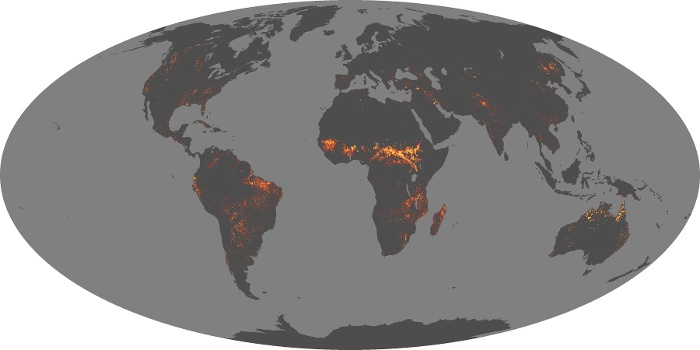 Global Map Fire Image 201