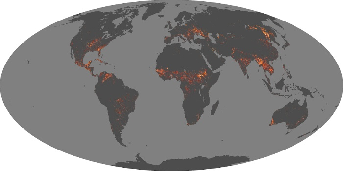Global Map Fire Image 205