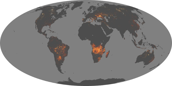 Global Map Fire Image 134