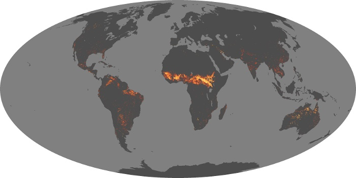 Global Map Fire Image 214