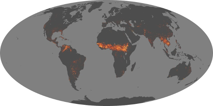 Global Map Fire Image 240
