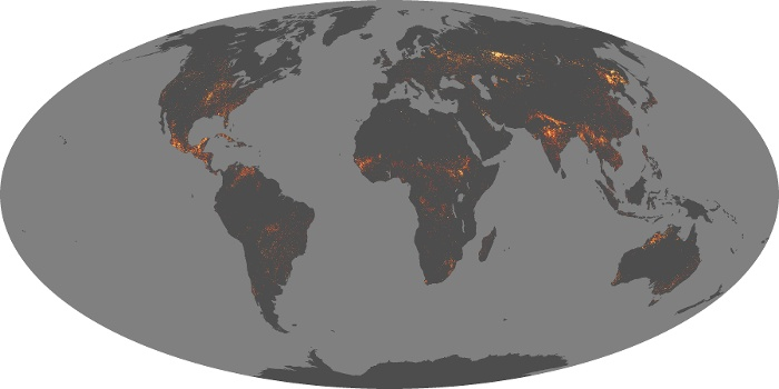 Global Map Fire Image 254