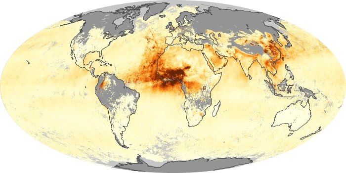 Global Map Aerosol Optical Depth Image 1