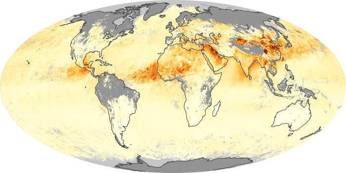 Global Map Aerosol Optical Depth Image 2