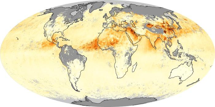 Global Map Aerosol Optical Depth Image 2