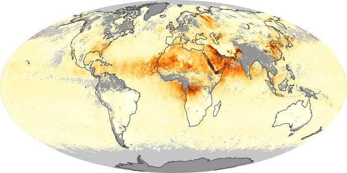 Global Map Aerosol Optical Depth Image 5