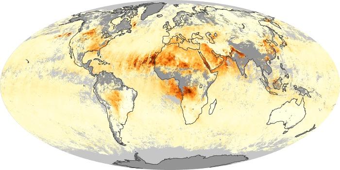 Global Map Aerosol Optical Depth Image 6