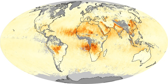 Global Map Aerosol Optical Depth Image 7