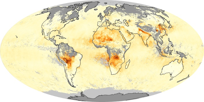 Global Map Aerosol Optical Depth Image 8