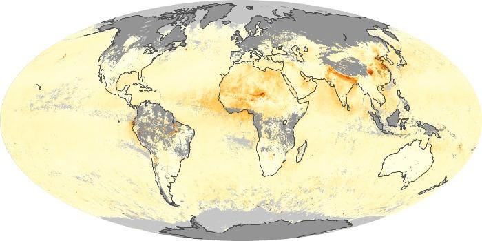 Global Map Aerosol Optical Depth Image 9