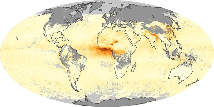 Global Map Aerosol Optical Depth Image 10