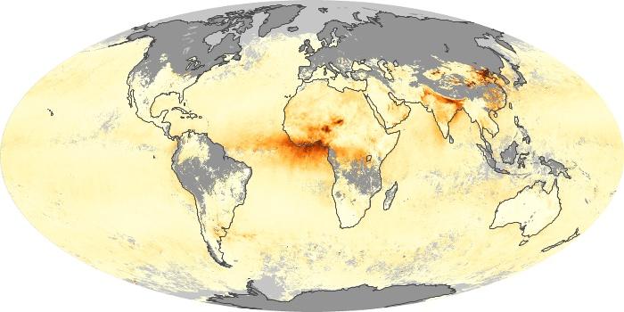 Global Map Aerosol Optical Depth Image 11