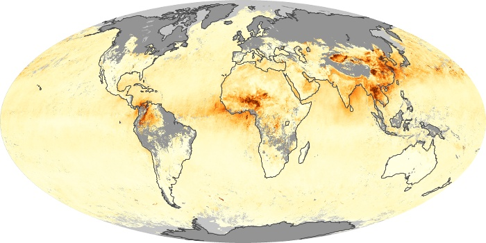 Global Map Aerosol Optical Depth Image 13