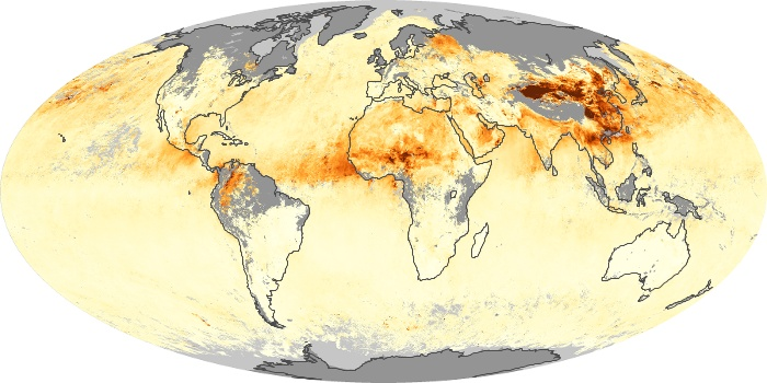 Global Map Aerosol Optical Depth Image 14
