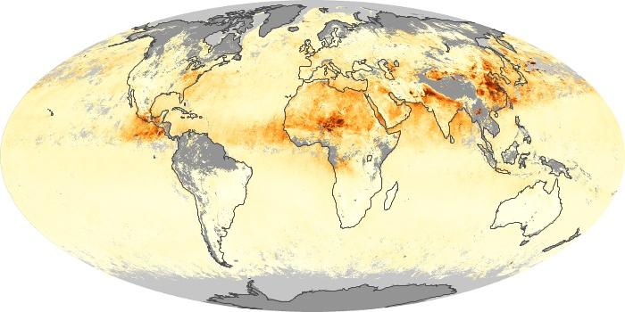 Global Map Aerosol Optical Depth Image 15