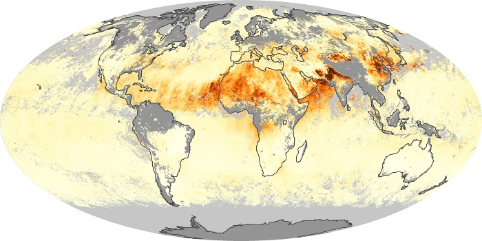 Global Map Aerosol Optical Depth Image 16