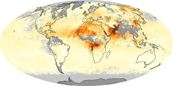 Global Map Aerosol Optical Depth Image 17