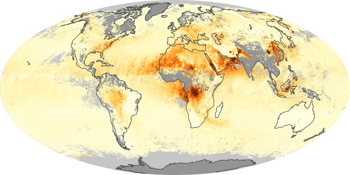 Global Map Aerosol Optical Depth Image 18