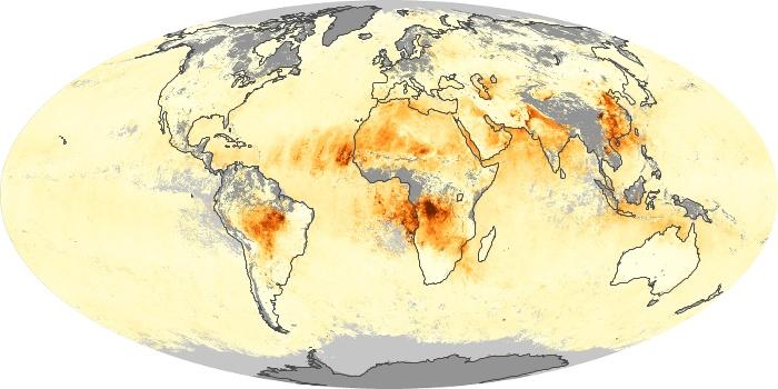 Global Map Aerosol Optical Depth Image 19