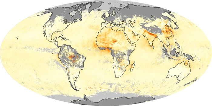 Global Map Aerosol Optical Depth Image 21