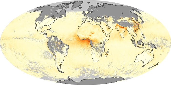 Global Map Aerosol Optical Depth Image 22