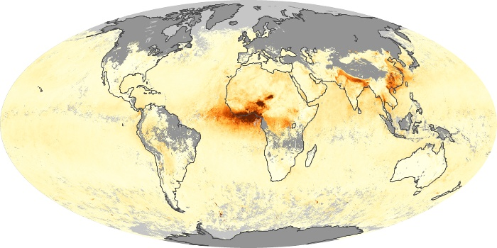 Global Map Aerosol Optical Depth Image 23