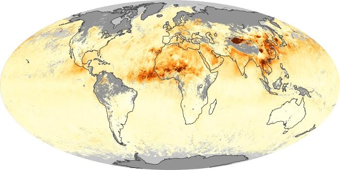 Global Map Aerosol Optical Depth Image 26