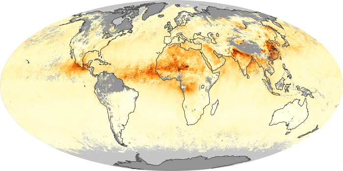 Global Map Aerosol Optical Depth Image 27