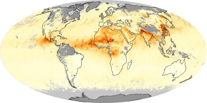 Global Map Aerosol Optical Depth Image 27