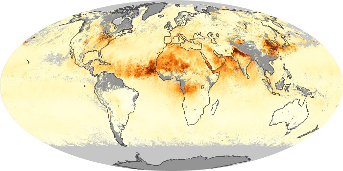 Global Map Aerosol Optical Depth Image 1