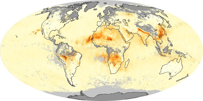 Global Map Aerosol Optical Depth Image 44