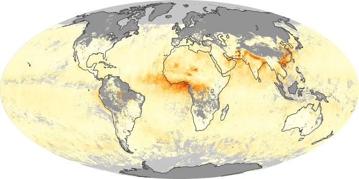 Global Map Aerosol Optical Depth Image 46