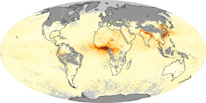 Global Map Aerosol Optical Depth Image 19