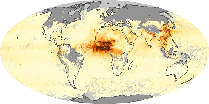 Global Map Aerosol Optical Depth Image 48
