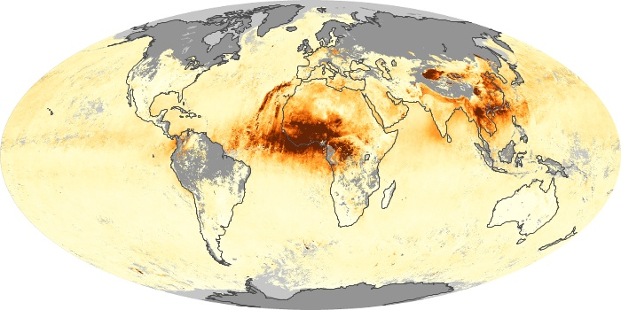 Global Map Aerosol Optical Depth Image 49