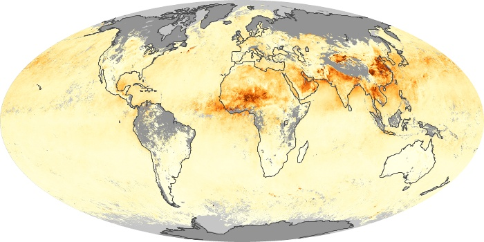 Global Map Aerosol Optical Depth Image 50