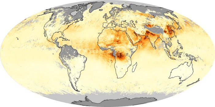 Global Map Aerosol Optical Depth Image 51