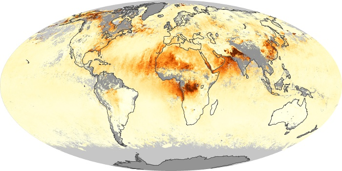 Global Map Aerosol Optical Depth Image 53