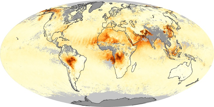 Global Map Aerosol Optical Depth Image 54