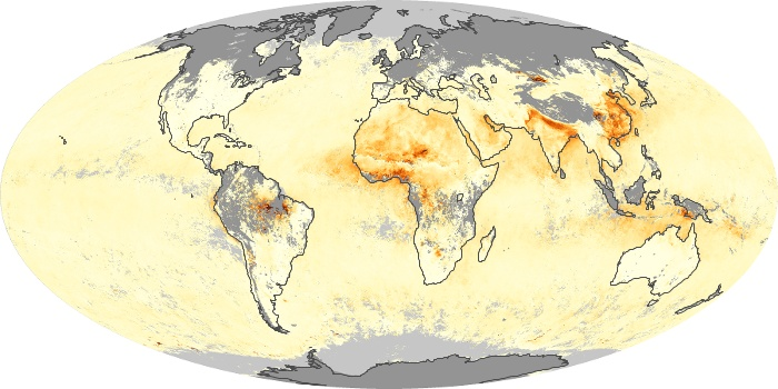 Global Map Aerosol Optical Depth Image 57