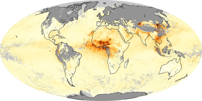 Global Map Aerosol Optical Depth Image 60