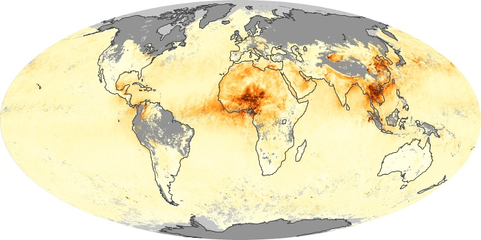 Global Map Aerosol Optical Depth Image 61